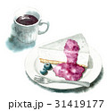 レアチーズケーキとコーヒーのセット 31419177