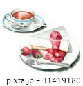 レアチーズケーキ ケーキ デザートのイラスト 31419180