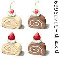 ロールケーキ4種 31419669