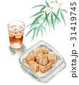 わらびもち 和菓子 おやつのイラスト 31419745