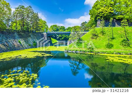 皇居外苑の風景(皇居正門鉄橋) 31421216