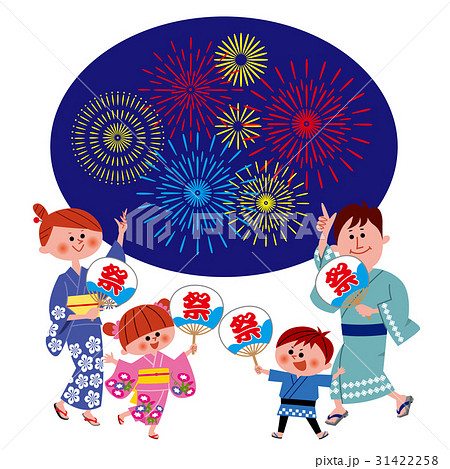 夏祭り・浴衣の家族 31422258