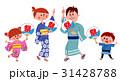 浴衣 家族 夏祭りのイラスト 31428788