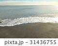 稲村ケ崎の冬の砂浜 夕景 31436755