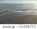 稲村ケ崎の冬の砂浜 夕景 31436771