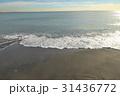 稲村ケ崎の冬の砂浜 夕景 31436772