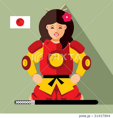 Vector Samurai japan.  31437904