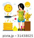 パンケーキ にこやか 微笑みのイラスト 31438025