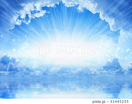 Peaceful heavenly background - light from heaven 31445235