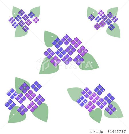 ガラス風 紫陽花 31445737