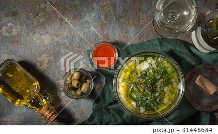Portuguese soup Caldo Verde on the stone 31448684