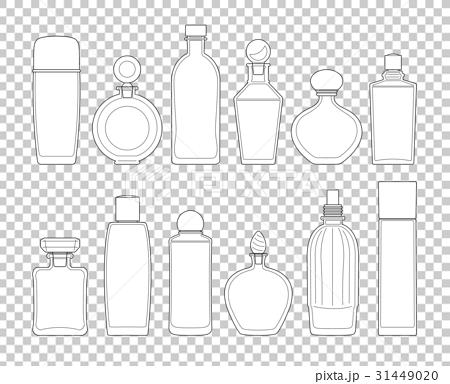 化粧香水ガラス瓶のイラスト素材 31449020 Pixta