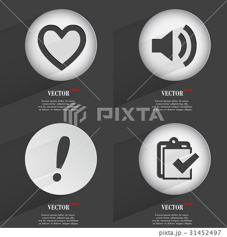 Set of one-color web buttons flat design. Simple cのイラスト素材 [31452497] - PIXTA