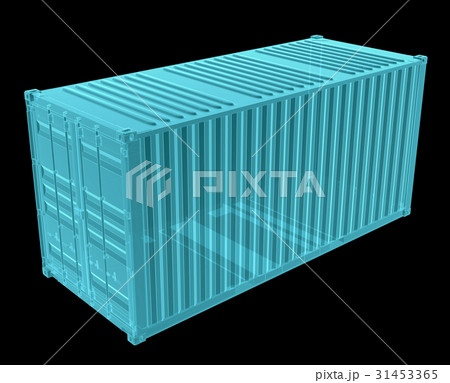 X-Ray Image Of Shipping containerのイラスト素材 [31453365] - PIXTA
