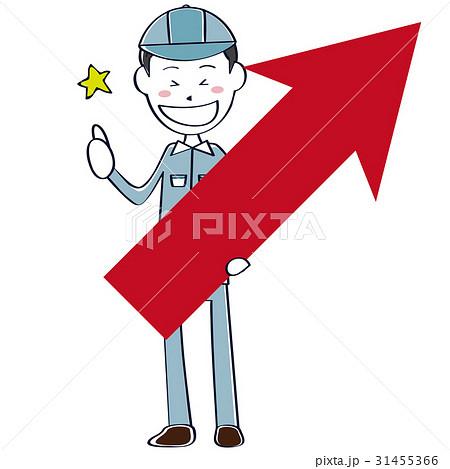 男性作業員 全身 上昇矢印を持っていいね! 31455366