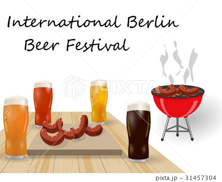 Festival of beer. Different types of beer inのイラスト素材 [31457304] - PIXTA