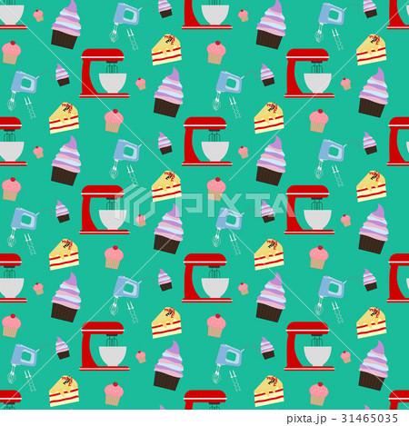 Cupcake and mixer patternのイラスト素材 [31465035] - PIXTA