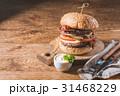 ハンバーガー バーガー 食の写真 31468229