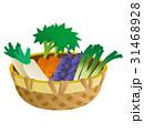 野菜のイラスト、ナスビ、ネギ、ダイコン、ニンジン 31468928