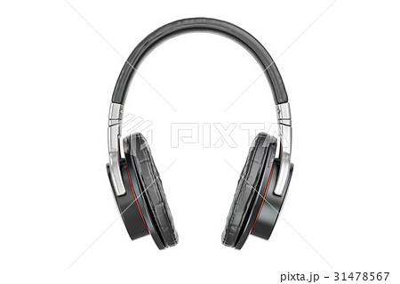 Headphones closeup, 3D rendering 31478567