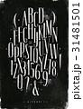 アルファベット フォント 数字のイラスト 31481501