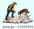 アクシデント 事故 犬のイラスト 31485444