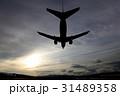飛行機 着陸 航空機の写真 31489358