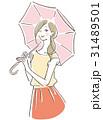 ベクター 女性 日傘のイラスト 31489501