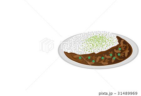 今日のご飯ハヤシライスのイラスト素材 [31489969] - PIXTA