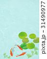 金魚 和紙・青緑 31490977