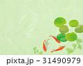 金魚 和紙・薄緑2 31490979