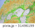 中国四国地方の日本地図 31496199