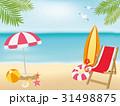 海 ビーチ ベクターのイラスト 31498875