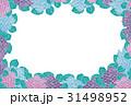 紫陽花【和紙背景・シリーズ】 31498952