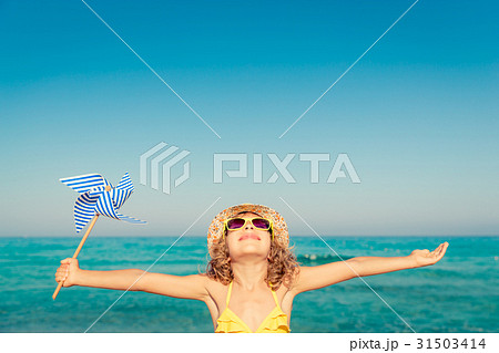 Happy child on summer vacation 31503414