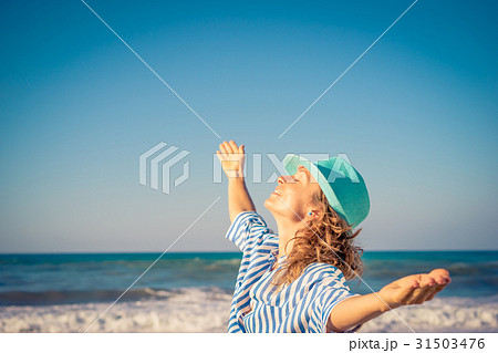 Happy woman on summer vacation 31503476