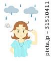 雨の日のヘアスタイル(困る) 31510411