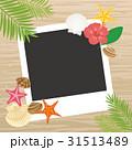 ビーチ ポラロイド ベクターのイラスト 31513489