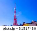 東京タワー 増上寺 青空の写真 31517430