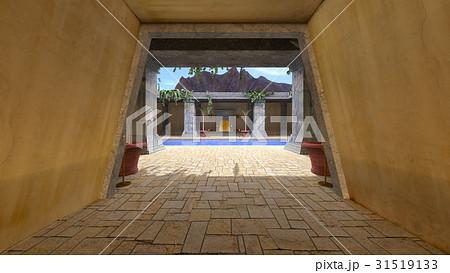 プールのある中庭 31519133