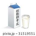 低脂肪牛乳 パックB(青白色)&コップ(透明) 31519551