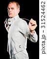 持つ フェンシング 剣術の写真 31524462