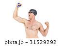 外国人 白人 白背景の写真 31529292