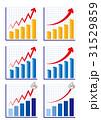 チャート グラフ 上昇のイラスト 31529859