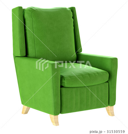 Simple scandinavian style green armchair with 31530559