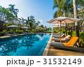 Beautiful luxury swimming pool in hotel resort 31532149