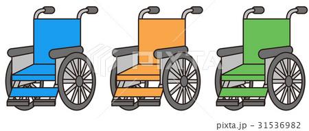 カラフルな車椅子 31536982