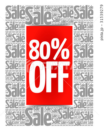 80% OFF Sale words cloud 31539279