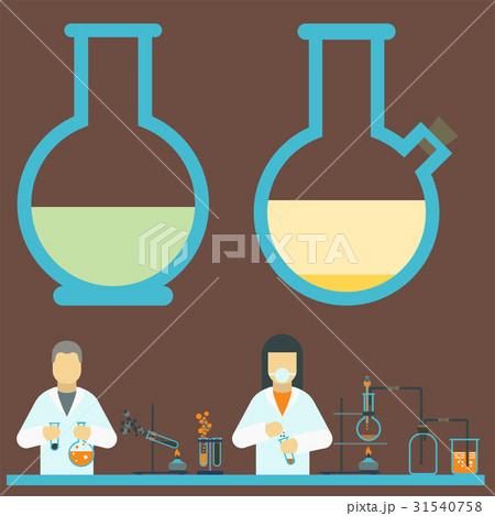 Lab symbols test medical laboratory scientificのイラスト素材 [31540758] - PIXTA