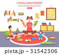 Babysitter Concept Illustration  31542306